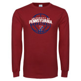 Cardinal Long Sleeve T Shirt-Pennsylvania Basketball Arched