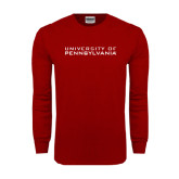 Cardinal Long Sleeve T Shirt-University of Pennsylvania