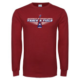 Cardinal Long Sleeve T Shirt-Track and Field Front Shoe