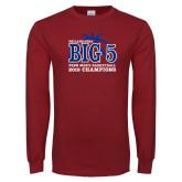 Cardinal Long Sleeve T Shirt-Big 5 Champions 2019
