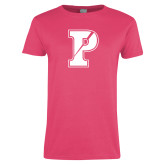 Ladies Fuchsia T Shirt-Split P