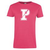 Ladies Fuchsia T Shirt-Split P