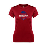 Ladies Syntrel Performance Cardinal Tee-Penn Football Vertical