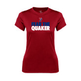 Ladies Syntrel Performance Cardinal Tee-Fear The Quaker