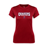 Ladies Syntrel Performance Cardinal Tee-Quakers Track & Field