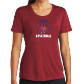 Ladies Syntrel Performance Cardinal Tee-Penn Basketball Under Ball