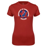 Ladies Syntrel Performance Cardinal Tee-Soccer Circle