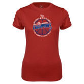 Ladies Syntrel Performance Cardinal Tee-2018 Ivy League Mens Basketball