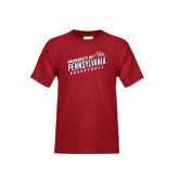Youth Cardinal T Shirt-Pennsylvania Basketball Slanted