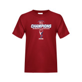 Youth Cardinal T Shirt-2017 Ivy League Womens Lacrosse Champions