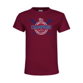 Youth Cardinal T Shirt-2018 Womens Lacrosse Championship