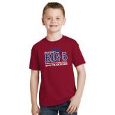 Youth Cardinal T Shirt-Big 5 Champions 2019