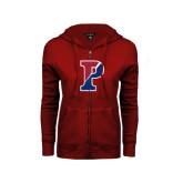 ENZA Ladies Cardinal Fleece Full Zip Hoodie-Split P