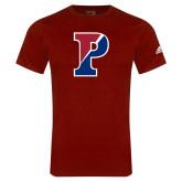 Adidas Cardinal Logo T Shirt-Split P