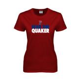 Ladies Cardinal T Shirt-Fear The Quaker