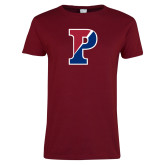 Ladies Cardinal T Shirt-Split P