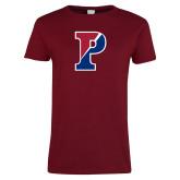 Ladies Cardinal T Shirt-Split P