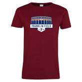 Ladies Cardinal T Shirt-Franklin Field