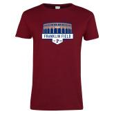 Ladies Cardinal T Shirt-Franklin Field