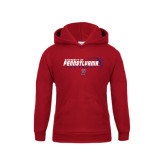 Youth Cardinal Fleece Hood-Pennsylvania Football Stacked