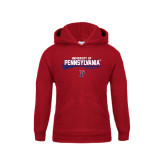 Youth Cardinal Fleece Hood-Pennsylvania Lacrosse Stacked