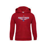 Youth Cardinal Fleece Hoodie-Track & Field Front View Shoe