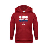 Youth Cardinal Fleece Hoodie-2017 Ivy League Womens Basketball Champions