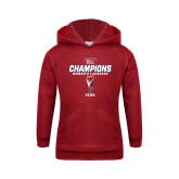 Youth Cardinal Fleece Hoodie-2017 Ivy League Womens Lacrosse Champions