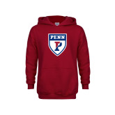 Youth Cardinal Fleece Hoodie-PENN Shield