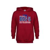 Youth Cardinal Fleece Hoodie-Big 5 Champions 2019