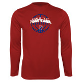 Performance Cardinal Longsleeve Shirt-Pennsylvania Basketball Arched
