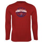 Syntrel Performance Cardinal Longsleeve Shirt-Pennsylvania Basketball Arched