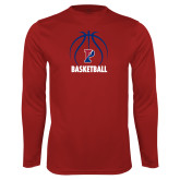 Performance Cardinal Longsleeve Shirt-Penn Basketball Under Ball