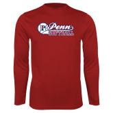 Syntrel Performance Cardinal Longsleeve Shirt-Penn Softball Script