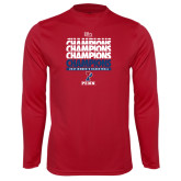 Syntrel Performance Cardinal Longsleeve Shirt-2017 Ivy League Womens Basketball Champions