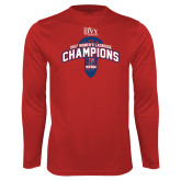 Syntrel Performance Cardinal Longsleeve Shirt-2017 Ivy League Womens Lacrosse Champions