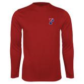 Syntrel Performance Cardinal Longsleeve Shirt-Split P