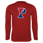 Performance Cardinal Longsleeve Shirt-Split P