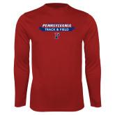 Syntrel Performance Cardinal Longsleeve Shirt-Pennsylvania Track and Field Banner