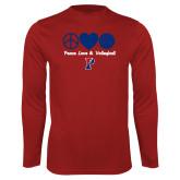 Syntrel Performance Cardinal Longsleeve Shirt-Peace Love & Volleyball