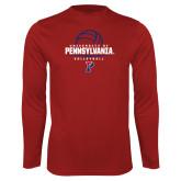 Syntrel Performance Cardinal Longsleeve Shirt-Pennsylvania Volleyball Half Ball