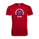 Next Level SoftStyle Cardinal T Shirt-Soccer Circle