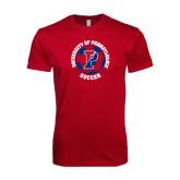 Next Level SoftStyle Cardinal T Shirt-Soccer Circle