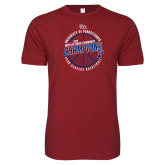 Next Level SoftStyle Cardinal T Shirt-2018 Ivy League Mens Basketball