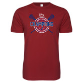 Next Level SoftStyle Cardinal T Shirt-2018 Womens Lacrosse Championship