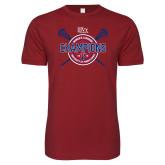 Next Level SoftStyle Cardinal T Shirt-2018 Womens Lacrosse Championship
