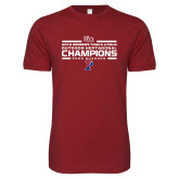 Next Level SoftStyle Cardinal T Shirt-2018 Womens Track and Field Champions