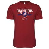 Next Level SoftStyle Cardinal T Shirt-2019 Womens Track and Field Champions