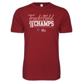 Next Level SoftStyle Cardinal T Shirt-2019 Track & Field Womens Outdoor Champs