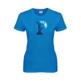 Ladies Sapphire T Shirt-Split P Foil